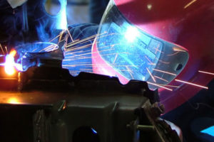 welding a car to repair in shepshed
